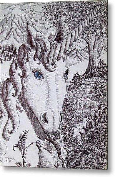 Unicorn On Vacation Metal Print by Joshua Armstrong