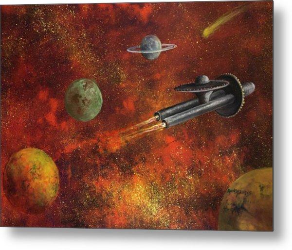 Unidentified Flying Object Metal Print