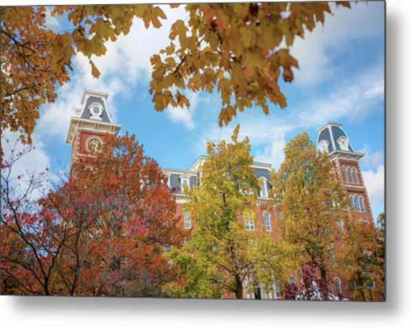 University Of Arkansas Razorback Campus During Autumn Metal Print