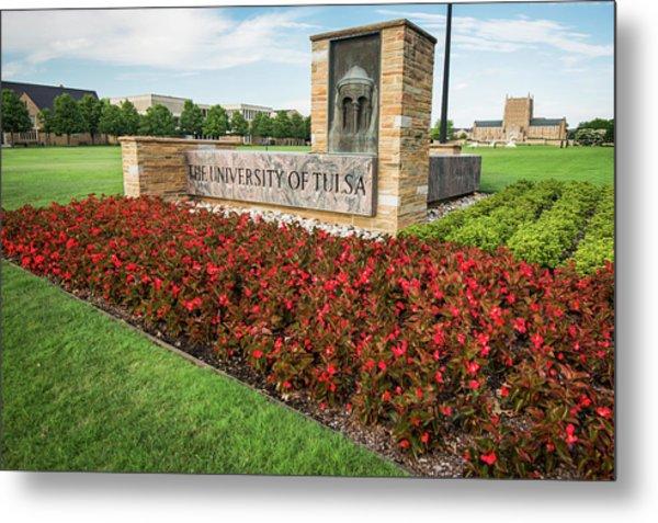 University Of Tulsa Landscape Metal Print