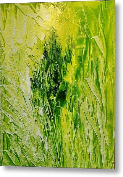 Untitled Green Metal Print by Larry Ney  II