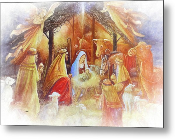 Unto Us A Savior Is Born Metal Print