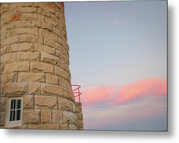Close-up Detail Of The Cape Moreton Lighthouse Metal Print
