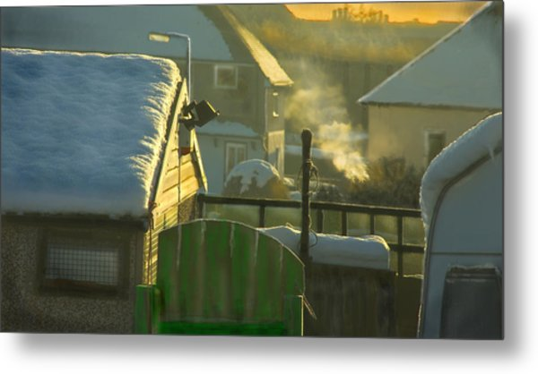 Urban Winter Landscape Uk Metal Print