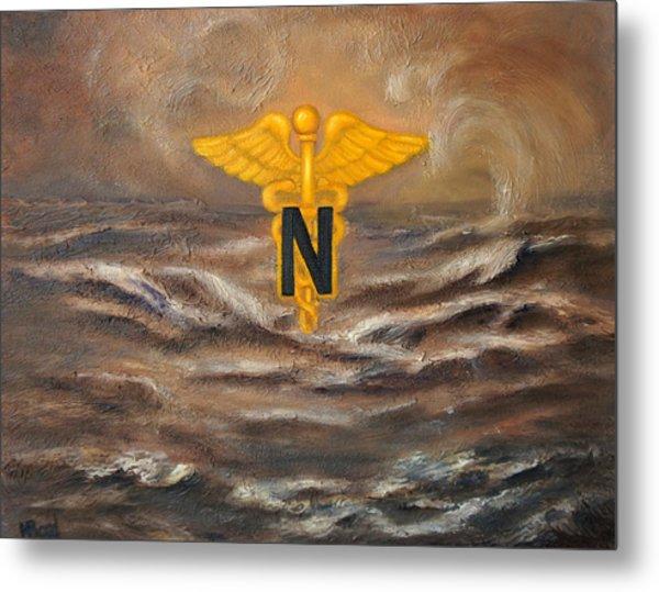 U.s. Army Nurse Corps Desert Storm Metal Print