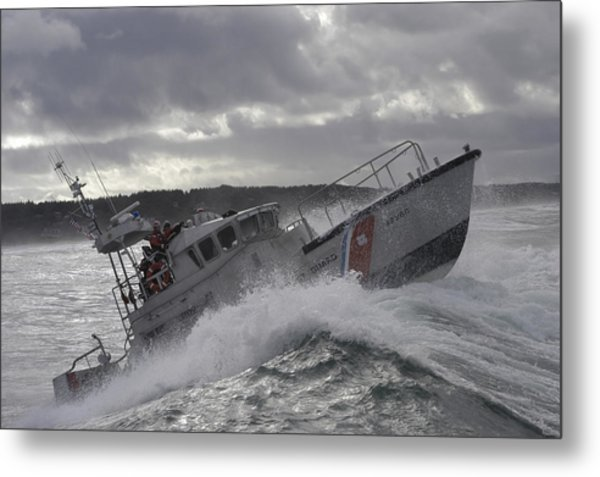 Metal Print featuring the photograph U.s. Coast Guard Motor Life Boat Brakes by Stocktrek Images