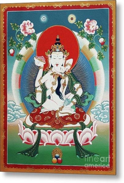 Vajrasattva Yuganadha  Metal Print