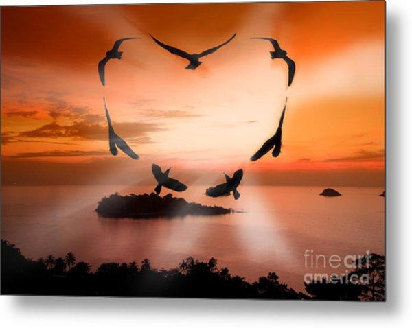 Valentine Bird Metal Print