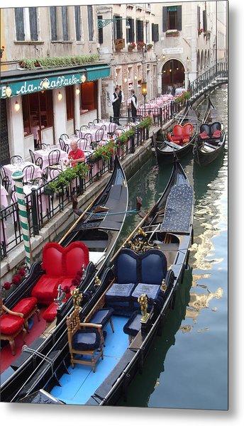 Venice Boats Metal Print by Nina Simeonova