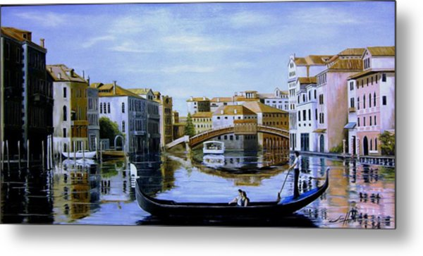Venice Canal Ride Metal Print by Jim Horton