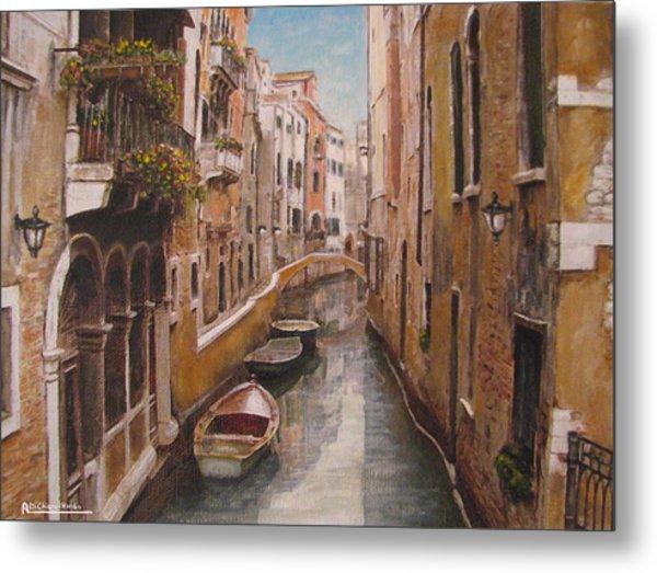 Venice-canale Veneziano Metal Print