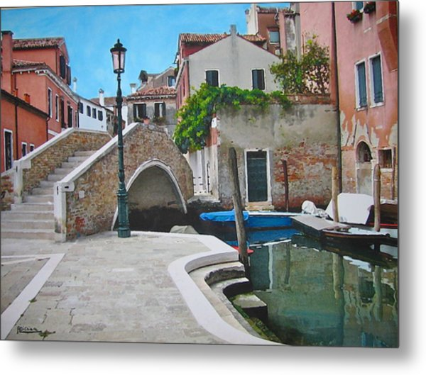 Venice Piazzetta And Bridge Metal Print
