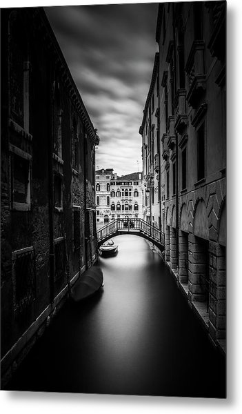 Venice Residential Canal Metal Print