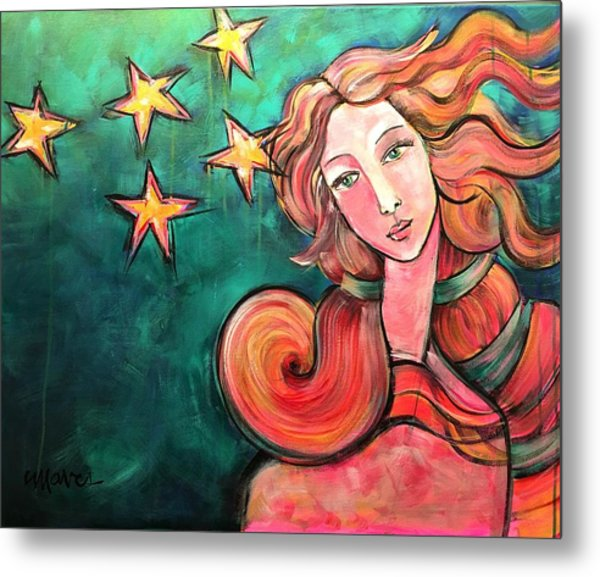 Metal Print featuring the painting Venus Of The Stars by Laurie Maves ART