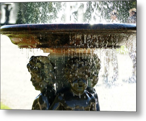 Versailles Fountain Metal Print
