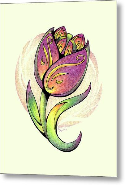 Vibrant Flower 5 Tulip Metal Print