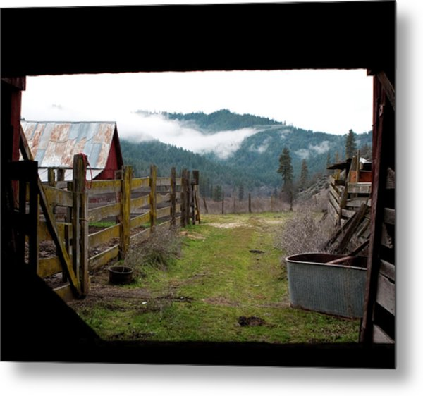 View From A Barn Metal Print