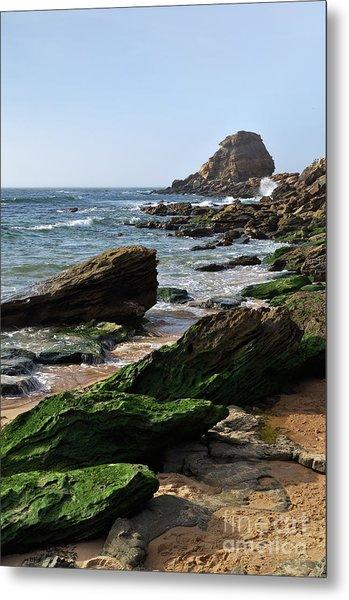 View Of Santa Rita Beach In Torres Vedras Metal Print
