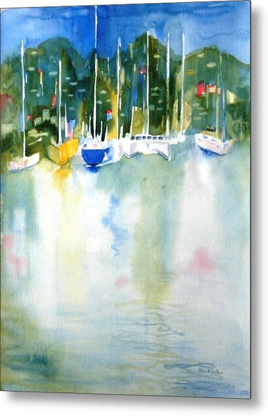 Village Cay Reflections Metal Print