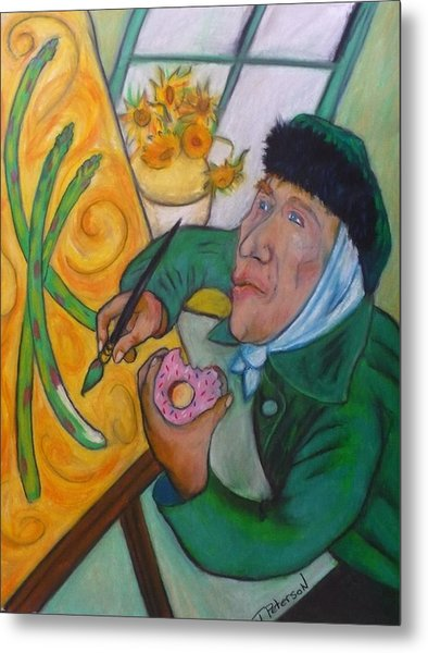 Vincent And The Asparagus Metal Print