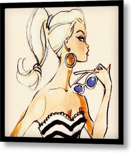Vintage Barbie Sketch #awesome #barbie Metal Print