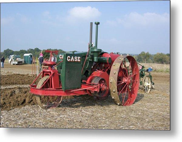 Vintage Case Tractor Metal Print by Gerry Walden