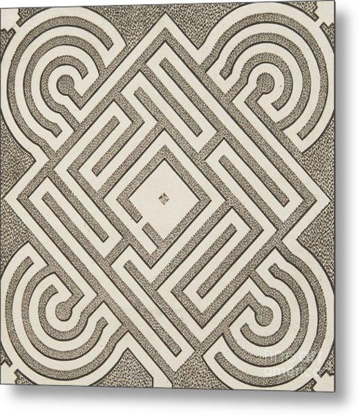 Vintage Parterr Plan Metal Print