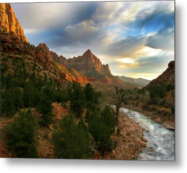 Virgin River Sunset Metal Print