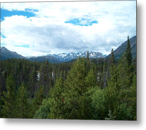 Vistas Along The Alcan Metal Print by Janet  Hall
