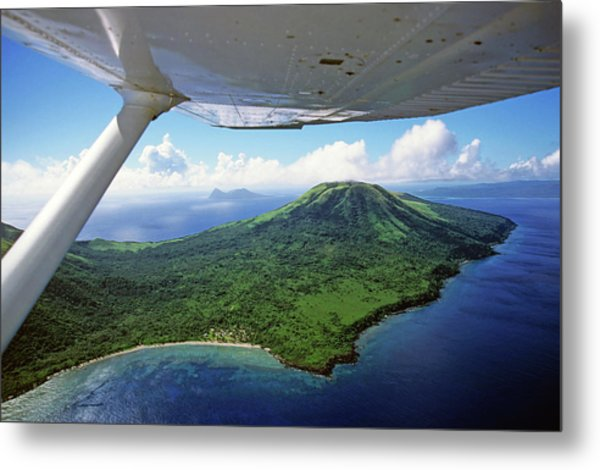 Volcanoes Seen From A Plane On The Island Of Efate Metal Print by Sami Sarkis