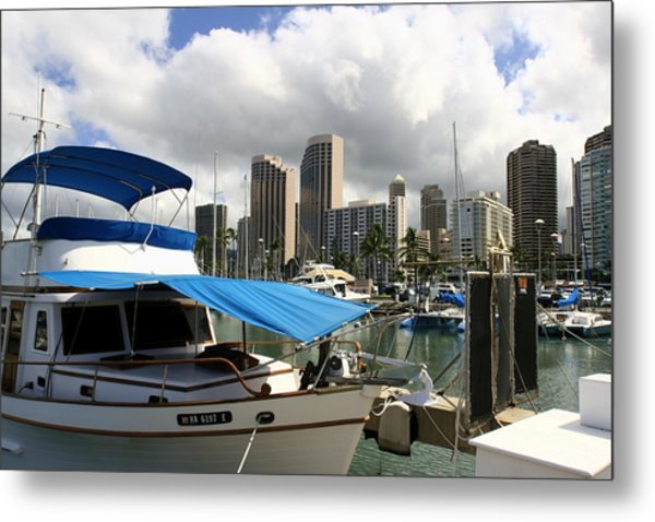 Waikiki Port Metal Print by Andrei Fried