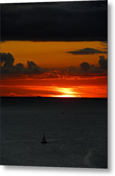 Waikiki Sunset Iv Metal Print