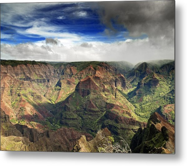 Waimea Canyon Hawaii Kauai Metal Print