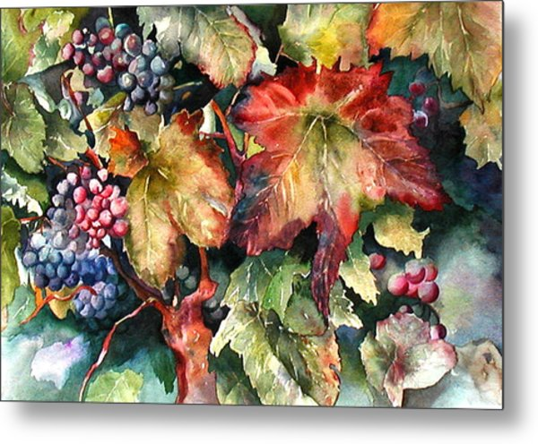 Waiting For Merlot Metal Print
