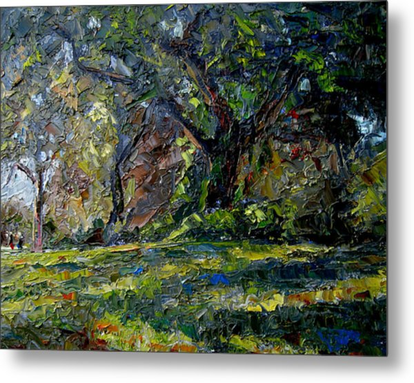 Walk In The Woods Metal Print by Mark Hartung