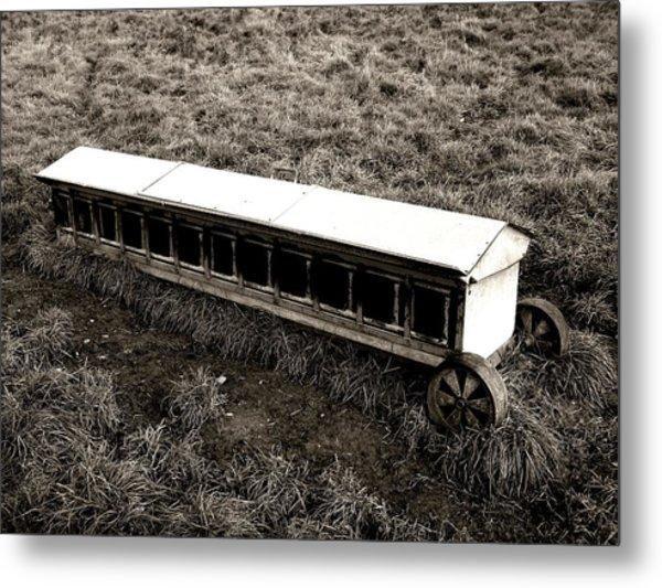 Walking On The Countryside Metal Print