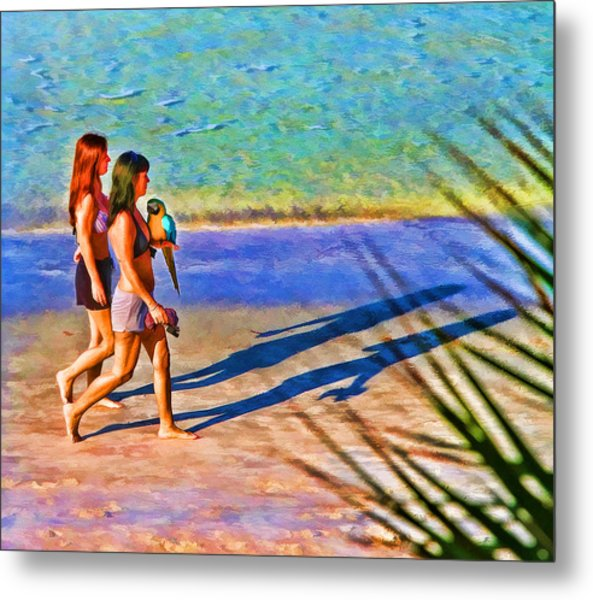 Walking The Bird Metal Print
