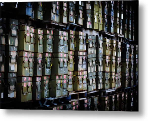 Wall Of Containment Metal Print