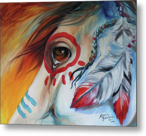 War Horse Spirit Eye Metal Print