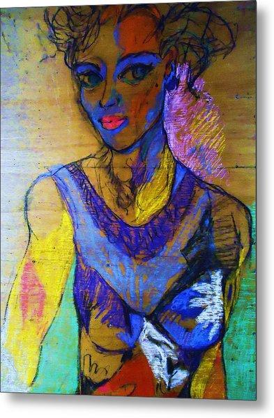 Warhol Simone Metal Print