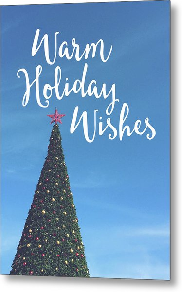 Warm Holiday Wishes- Art By Linda Woods Metal Print