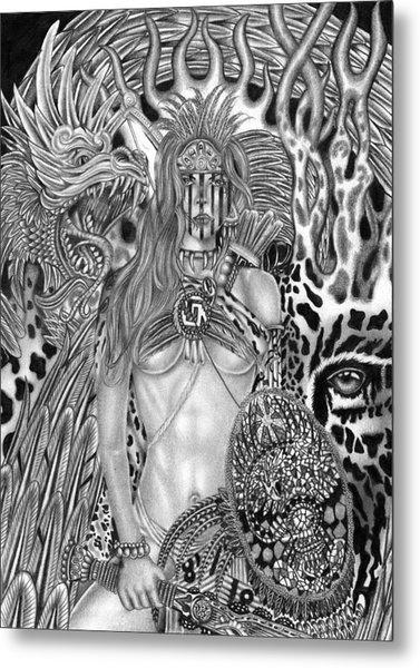 Warrior Princess Metal Print by Michael Reymann