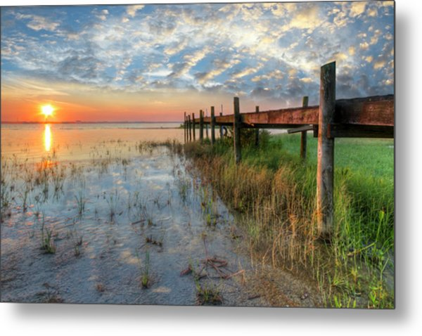 Watching The Sun Rise Metal Print