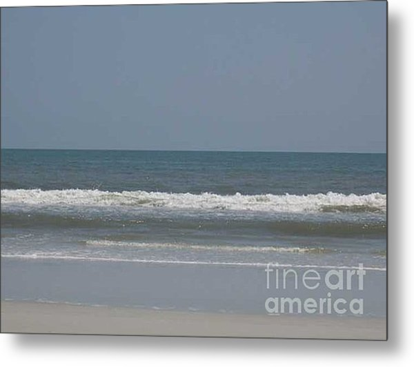 Watching The Waves Metal Print by Barb Montanye Meseroll