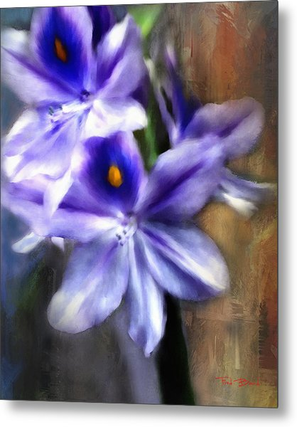 Water Hyacinth Metal Print