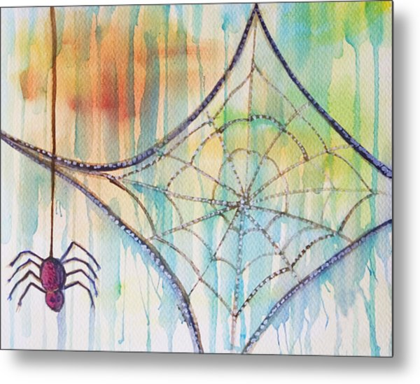 Metal Print featuring the painting Water Web by Angelique Bowman
