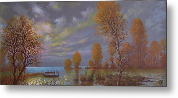 Water World Of Light Metal Print by Jozsef Horvath