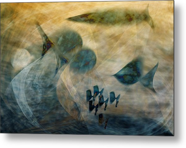 Water World One Metal Print by Gae Helton