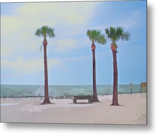 Watercolor Pine Island Metal Print
