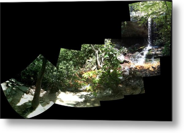 Waterfall Composition Metal Print